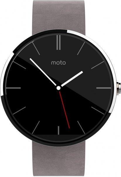 Motorola Moto 360 Smartwatch (Edelstahl, graues Band) Amazon WHD