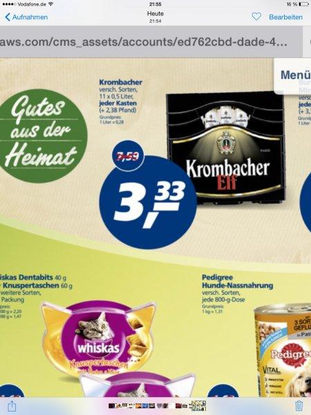Krombacher Elf 11x 0,5 Liter Hagen-Bathey [lokal??] 3,33 €