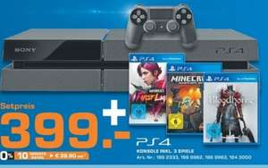 [Saturn Bundesweit] PlayStation 4 + Bloodborne + Minecraft + Infamous First Light für 399€ ab 27.04.2014