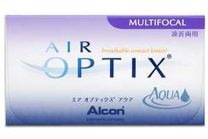 [Amazon Prime] Air Optix Aqua Multifocal Monatslinsen weich, 6 Stück / BC 8.6 mm / DIA 14.2 / ADD LO / +4,00 Dioptrien für 10,59€