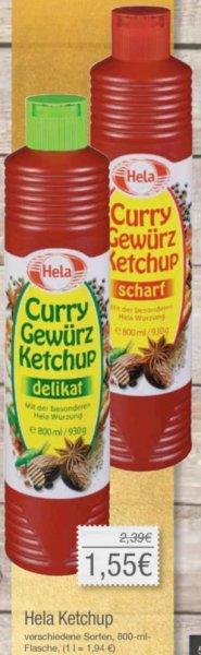 Hela Ketchup 800ml, verschiedene Sorten bei Combi