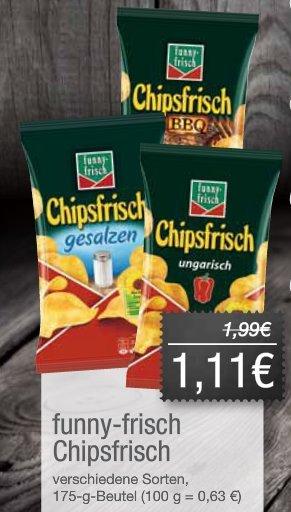 funny-frisch Chipsfrisch, div. Sorten 175g [Jibi-Markt] 1,11€ statt 1,99€