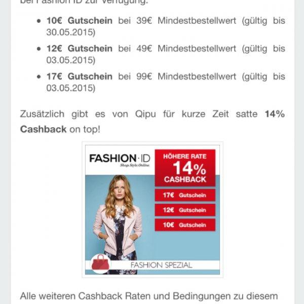 Fashion ID Qipu + Gutschein bis zu ~40% auf alles