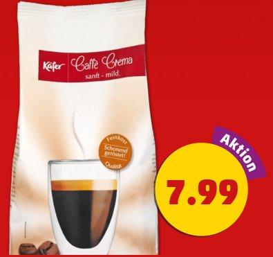 [PENNY] KÄFER Kaffee - Ganze Bohnen - Caffé Crema oder Espresso Forte - 1.000-g-Beutel