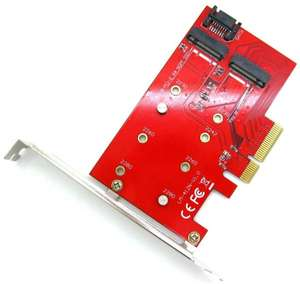 M.2 B + M Key SSD to PCI-E PCI Express 4X 4 Lane Adapter Converter Card