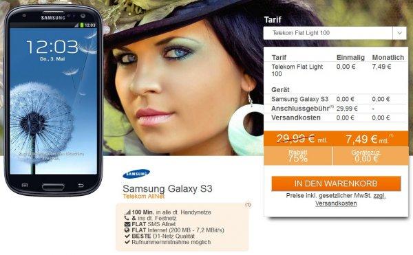Telekom Flat Light 100 im T-Mobile-Netz für eff. 0,42 € mtl. GEWINN (100 Freiminuten, SMS-Flat, 200 MB) durch 240 € Auszahlung und Handyverkauf