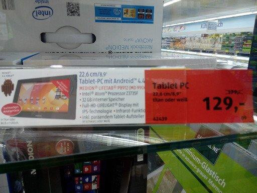 [lokal Bonn Lannesdorf] Aldi Tablet P8912 Abverkauf