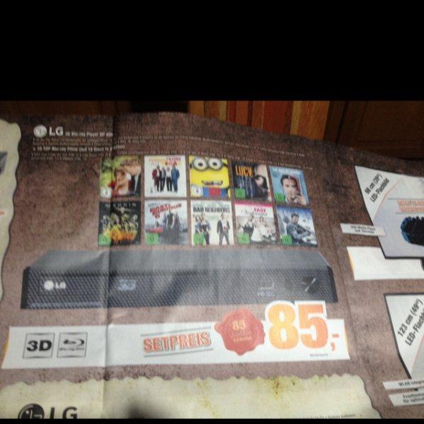 LG 3D Blu-ray Player BP 450 + 10 Blu-rays für 85€ [Lokal Expert Bening]