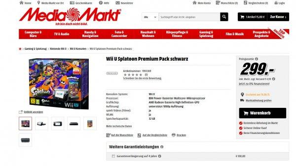 Splatoonbundle WII U bei Mediamarkt.de