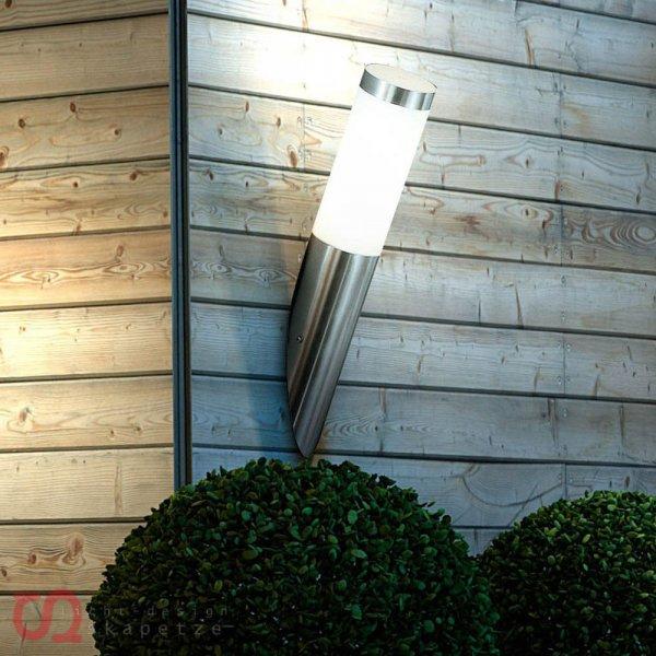 eBay WoW: Edelstahl Wand-Aussenleuchte mit Zylinder @ 9,99 Euro inkl. Versand