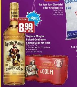 [Offline] Captain Morgan Spiced Gold 0,7l @Hit für 8,99€