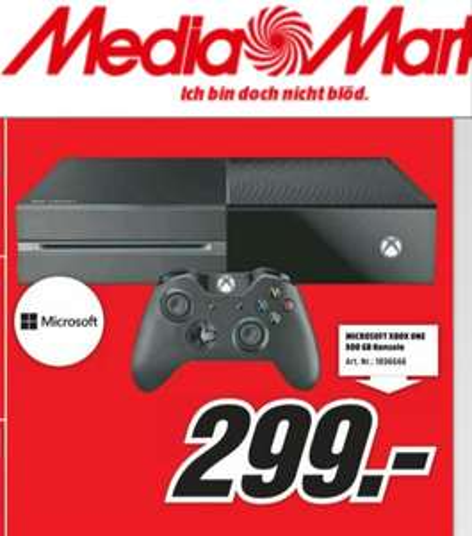 Lokal MM (Wetzlar) Xbox One 299€