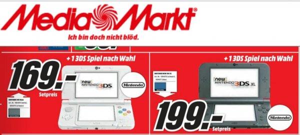 Lokal MM (Wetzlar) New Nintendo 3DS + 1 Spiel nach Wahl XL schwarz / normale weiß