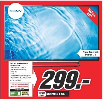 Sony KDL 40 R 485 BBAEP bei Media Markt Mülheim/Ruhr
