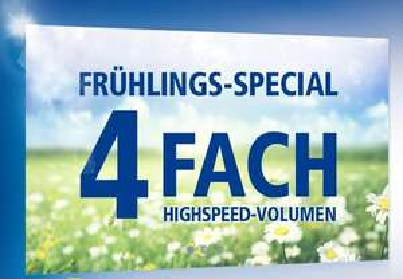 1und1 / 1&1 Frühlingsspecial 4xDatenvolumen All-Net-Flat