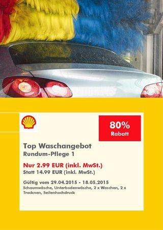 -LOKAL- 2,99 € Autowäsche Angebot Rundumpflege Shell Mannheim statt 14,99€ beim download DankeTanke APP