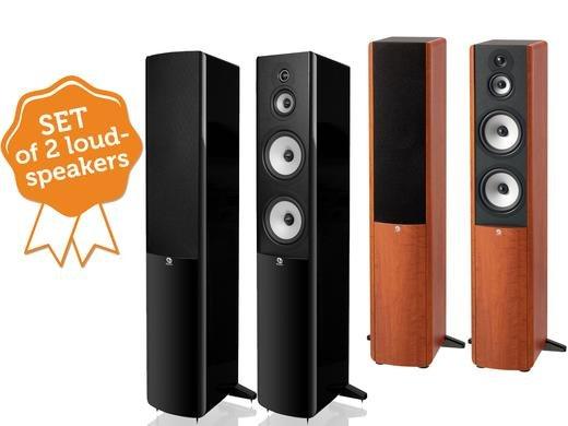 Boston Acoustics A360 Paar Standlautsprecher in kirsche oder schwarz beim ibood für 408,90 €