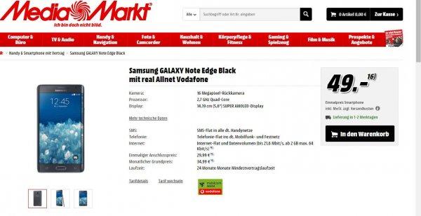 Galaxy Note Edge mit Moblicom debitel Vertrag