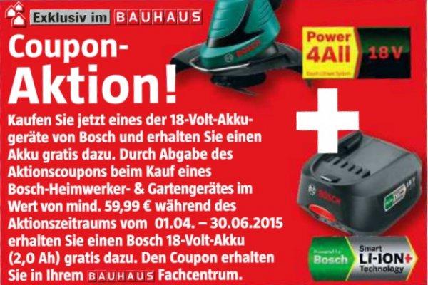 [Bauhaus bundesweit], Bosch PSR 18 LI + zweiter Akku