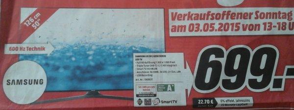 """[local@MM Dietzenbach] Samsung UE50J6250 (50"""",600hz,FHD,LED) für 699 €"""