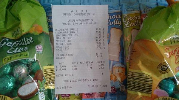 [Lokal Dresden] ALDI Osterschokolade Resteverkauf noch viel da