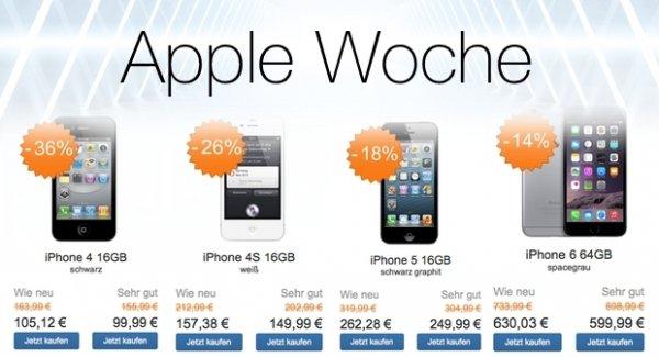 gebrauchte iPhone Woche bei reBuy.de (iPhone 4 - iPhone 6 in sehr gut und wie neu)