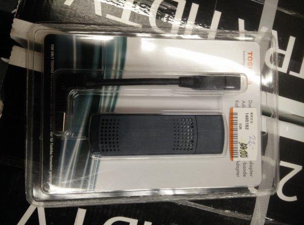 Lokal MM Mainz Toshiba WLM 20 U2 WLAN-Stick für Toshiba TVs für 22€ (Amazon bietet ihn derzeit für 139€ an).