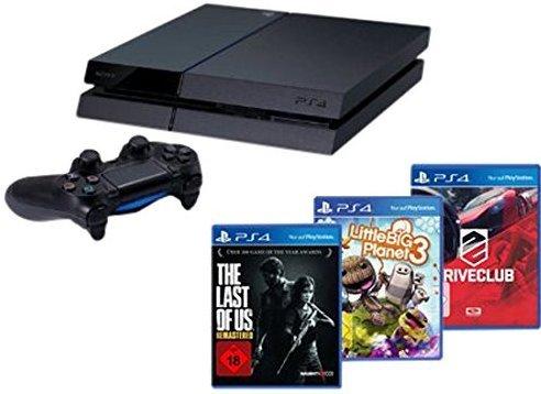 [Amazon Marketplace] Playstation 4 Bundle mit TLOUR, DriveClub und LBP 3 für 382€