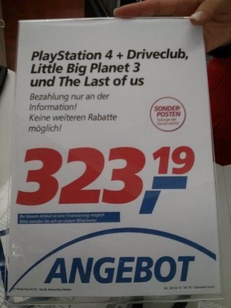 [Lokal Real Bremen Vahr]PlayStation 4 Bundle mit 3 Spielen FÜR ALLE auch ohne Personalrabatt