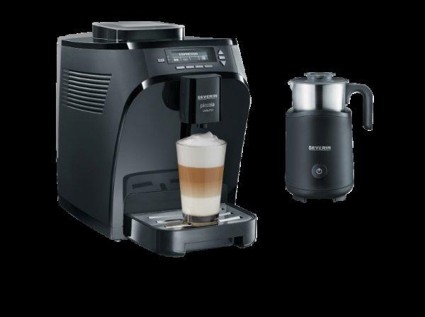 SEVERIN KV 8081 Kaffeevollautomat mit Induktions- Milchaufschäumer Kaffeevollautomat, 1.35 l Wassertank, 15 bar, Keramik-Scheibenmahlwerk, schwarz für 272 € @Saturn Online