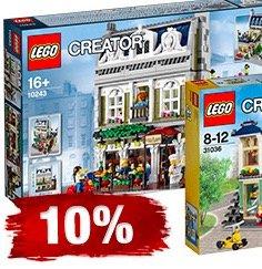 [Galeria.de] 10% auf LEGO Creator - 10246 Detektivbüro 118,79€, 10243 Pariser Restaurant 118,79€, 10232 Palace Cinema 110,87€ (+Qipu)