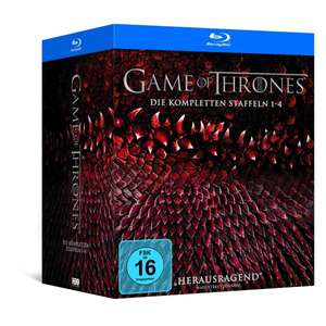 Game of Thrones Staffel 1-4 (Digipack + Bonusdisc + Fotobuch)  [Blu-ray] [Limited Edition] für 89,97 € > [amazon.de]