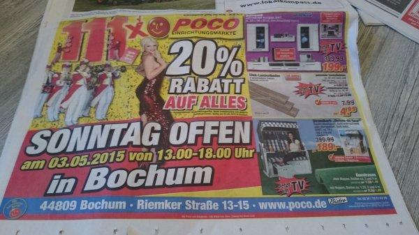 Lokal Bochum 03.05 / Poco / Hannibal Center / 20% auf alles