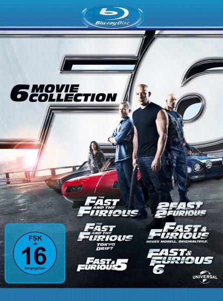 Fast & Furious 1-6 [Blu-ray] für nur 26,99 Euro bei Primeversand