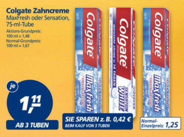 [REAL] ab 3 Stück Colgate Sensation White für je 0,61€ (Angebot + Coupon) ab 04.05.2015