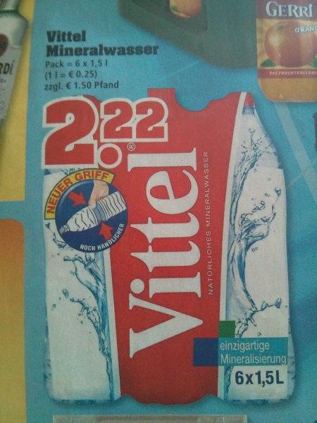 Trinkgut - Vittel Mineralwasser Still 6x1,5l für 2,22€ + zzgl. Pfand 0,25€ je Flasche