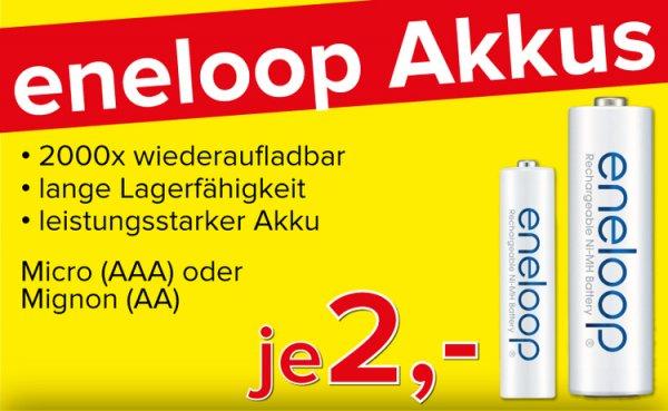 [Lokal: Freiburg] Eneloop Akku NiMH Mignon AA - 2 € pro Stück @Omega Freiburg