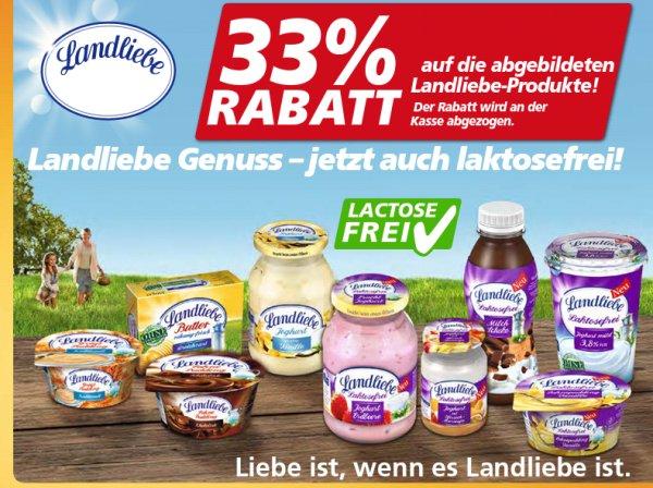 [Real] 33% SOFORT RABATT auf bestimmte (auch laktosefreie) LANDLIEBE Produkte + Coupon von couponplatz.de (04.-09.05.)