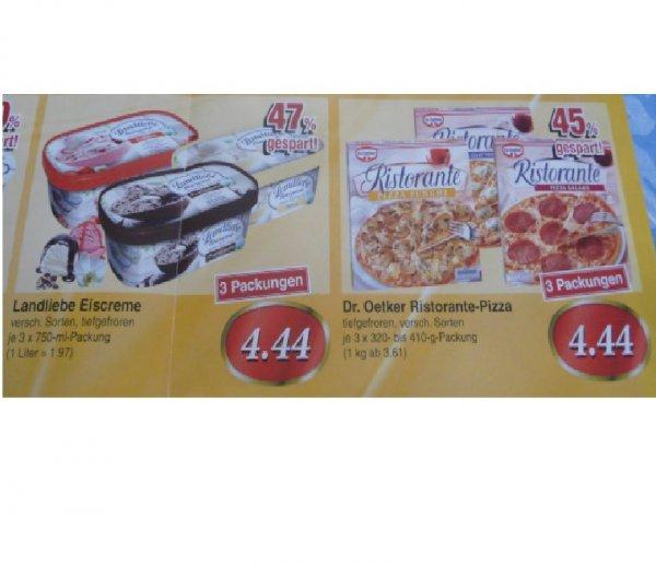 (lokal Alzenau, Mömbris, Schöllkrippen) Geburtstagsangebote Edeka je 3x Landliebe Eiscreme bzw. Ristorante-Pizza für 4,44€ (Stückpreis 1,48€) / 5x Almighurt für 1,11€ (Stückpreis 0,22€)