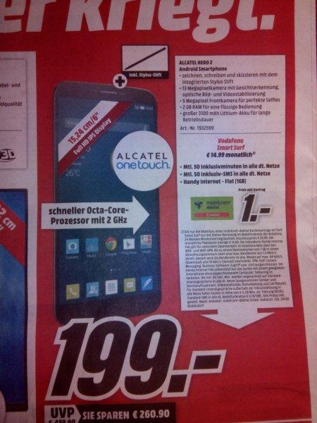 "[Lokal MM Heilbronn] Alcatel Hero 2 für 199,-€, 6"" Full HD, 2GB Ram, inkl. Stylus"