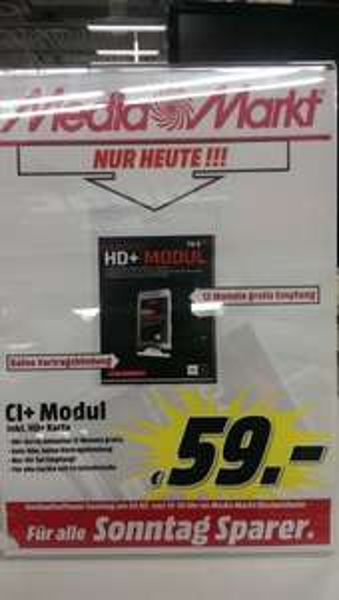 HD+ Modul inkl. 12 Monats Karte nur Heute im MM-Bischofsheim