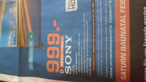 (lokal Saturn Baunatal+Kassel) Sony KDL60W855B