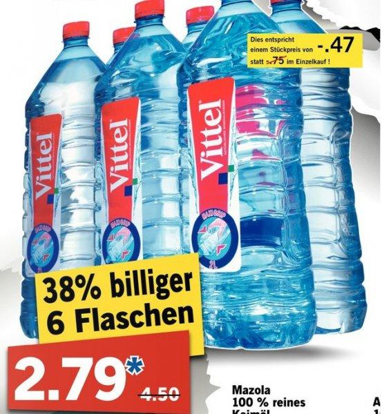 LIDL - Vittel 6x2L für 2,79, zzgl. 1,50€ Pfand