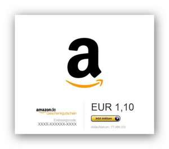 Amazon Gutschein 1,10 Euro für 1 Euro