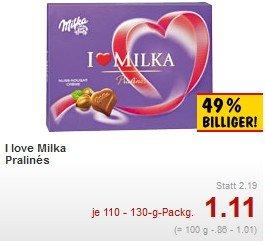 [Kaufland] - Milka, I love Milka Pralines - deutlich reduziert zum Muttertag