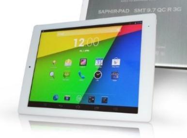 Saphir 9.7 Retina QuadCore Tablet mit 3G + extra Tabletständer