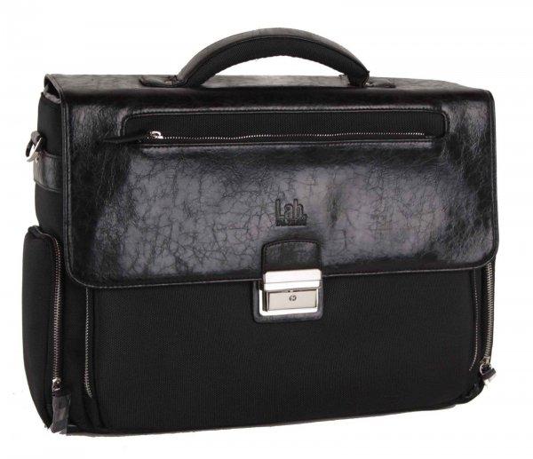 Pal Zileri Akten- und Laptoptasche aus PU-Leder u. Nylon in schwarz für 69,95€ zzgl. 5,95€ Versand @iBOOD