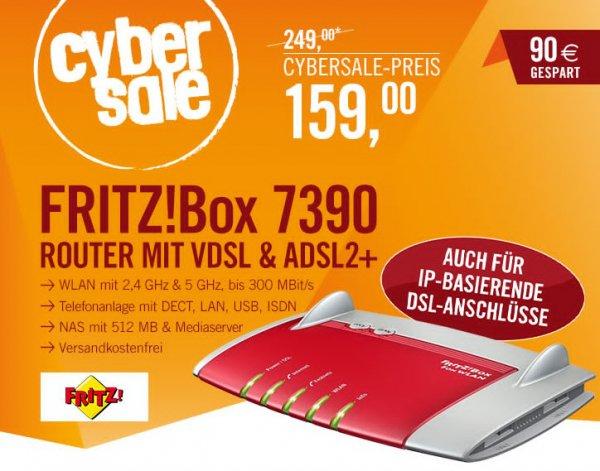 AVM FRITZ!Box 7390 für 159€ @ Cyberport - WLAN Router VDSL ADSL mit Telefonanlage & NAS