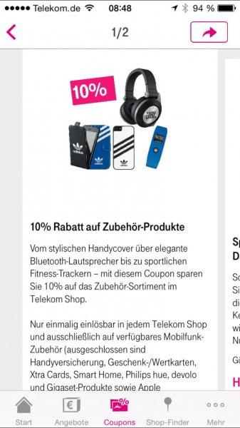10% Rabatt auf Zubehör im Telekom Shop