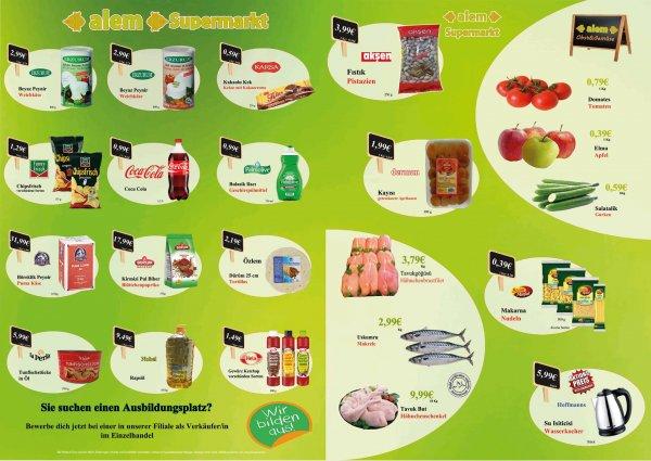 (Wuppertal/Remscheid) Alem Supermarkt 1kg Äpfel 0,39€  1kg Tomaten 0,79€  1kg Hähnchenbrustfilet 3,79€ etc.